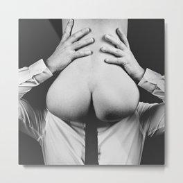 Photograph Erotic Art  - Nude woman sitting on a man Metal Print