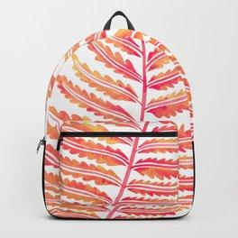 Fern Leaf – Peachy Pink Palette Backpack