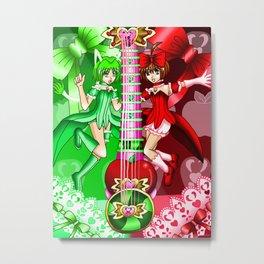Fusion T.M.M. Guitar #15 - Mew Retasu & Mew Ringo Metal Print