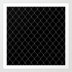 Wire Fence Art Print