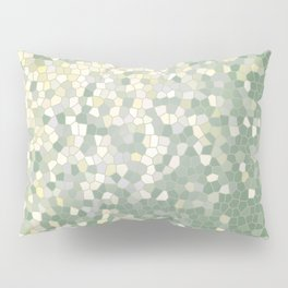 Yellow and Sage Green Mosaic Pattern Pillow Sham