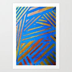 Geometric Blue Art Print