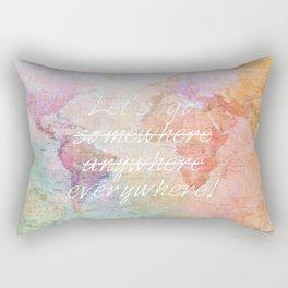 Let's Go Everywhere Rectangular Pillow