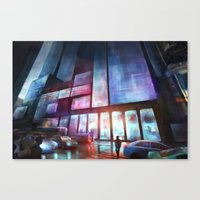 cityscape Canvas Prints featuring Cityscape by Laurens Spruit