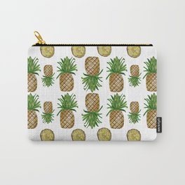 Watercolor Pineapples - repeat pattern Carry-All Pouch