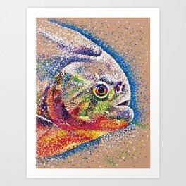 Dotted Piranha Art Print