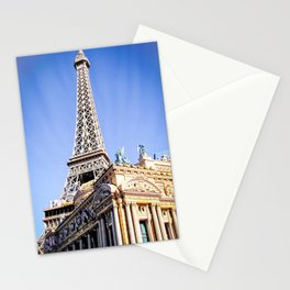 Eiffel tower at Las Vegas, USA with blue sky Stationery Cards