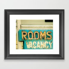 Rooms Neon Sign Framed Art Print