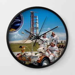 Apollo 17 - Prime Crew Portrait Wall Clock