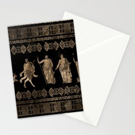 Greek Deities and Meander key ornament Stationery Cards