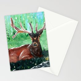 """Deer - Animal - """"Time to relax"""" - by LiliFlore Stationery Cards"""
