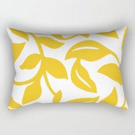 PALM LEAF VINE LEAF YELLOW PATTERN Rectangular Pillow