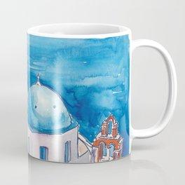 Santorini Oia View Mediterranean Dream Coffee Mug