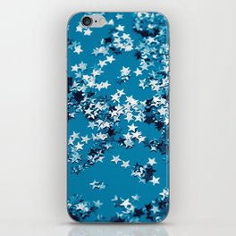 Blue Ocean Glitter Stars #1 #shiny #decor #art #society6 iPhone Skin