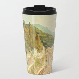 Vintage Travel Ad Amalfi Italy Travel Mug