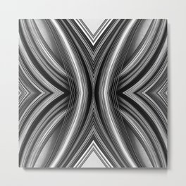 99 - Black and white paper abstract Metal Print