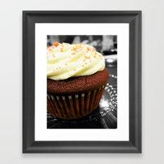 Red Velvet Cupcake Framed Art Print