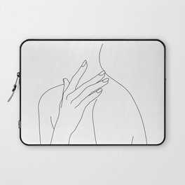 Female body line drawing - Danna Laptop Sleeve