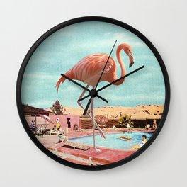Holiday Flamingo Wall Clock