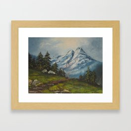 Landscape Forrest and Mountains Framed Art Print