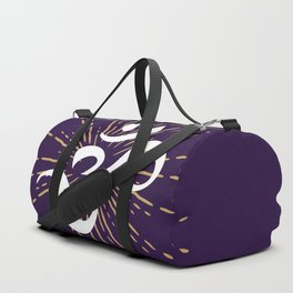 Om Mantra Universal Energy Purple Duffle Bag