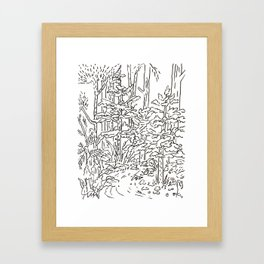 Creek Drawing  Framed Art Print