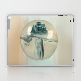 The Battle - Captain Ahab and Moby Dick Laptop & iPad Skin