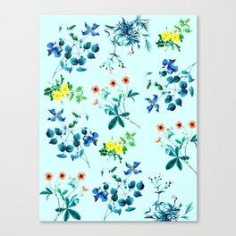 Spring fling III - mint Canvas Print