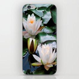 White Waterlilies iPhone Skin