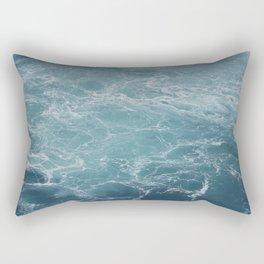 Niagara Falls - Blue Rectangular Pillow