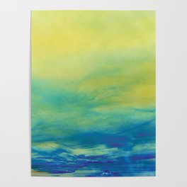 YELLOW & BLUE TOUCHING #1 #abstract #art #society6 Poster