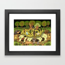 Giant Tortoise Framed Art Print