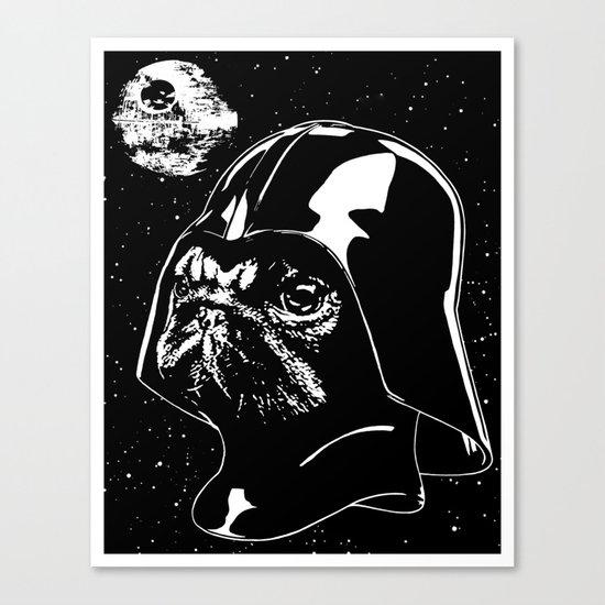 Pug Vader Canvas Print