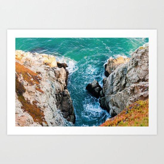 Ocean falaise 5 Art Print