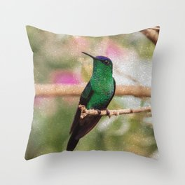 Bird - Photography Paper Effect 001 Throw Pillow