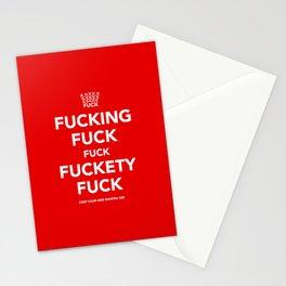 Fucking Fuck Fuck Fuckety Fuck- Red Stationery Cards