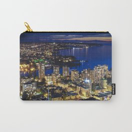 1556 Voyeuristic Vancouver Cityscape Twilight View English Bay Vancouver Carry-All Pouch