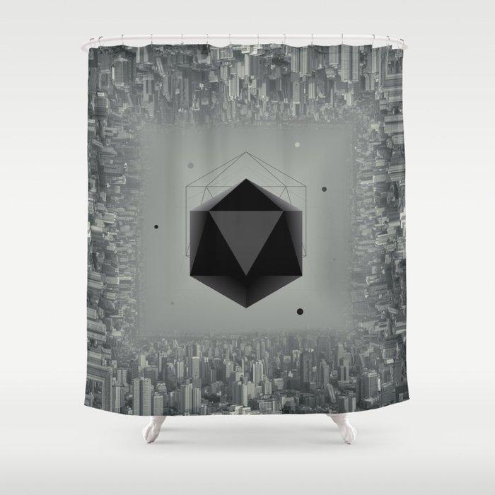 City Intruder Shower Curtain