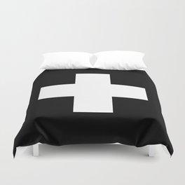 White Swiss Cross Duvet Cover