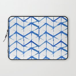 Blue Shibori Japanse Pattern Laptop Sleeve