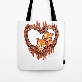 Lover Squirrels Tote Bag