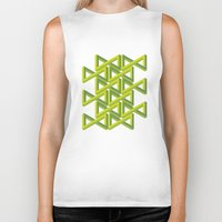 illusion Biker Tanks featuring Illusion by Isometric