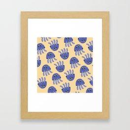 Jelly Fish pattern Framed Art Print