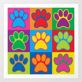 Pop Art Paws Art Print