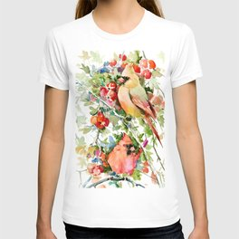 Cardinal Birds and Hawthorn T-shirt