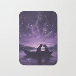 Lovers Under A Starlit Sky Bath Mat