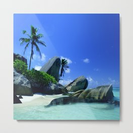 Seychelles Islands: Tropical Heaven Metal Print