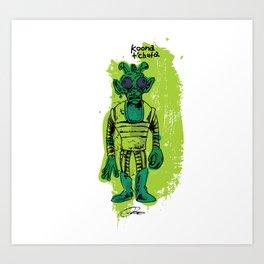 Greedo: Action Figure Tribute Doodle Art Print