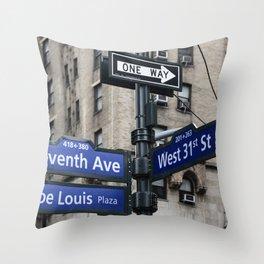 New York City Street Names Throw Pillow