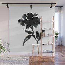 Elegant Ink Floral Wall Mural